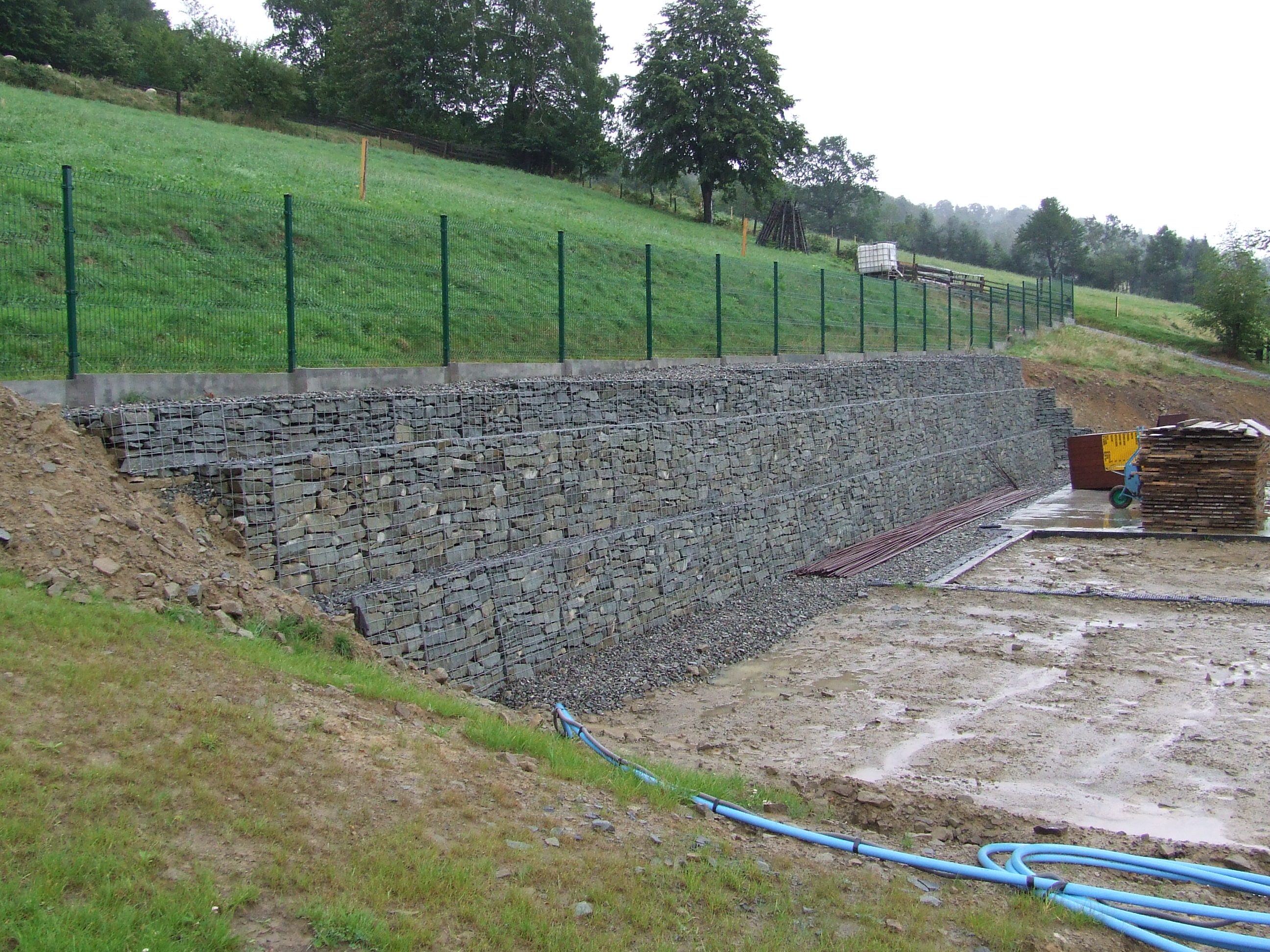 Hervorragend Gabionen, Der Stützmauer MM84