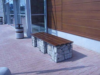 Ornamental walls gabion benches Jarosz Converters